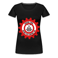 T-Shirts ~ Women's Premium T-Shirt ~ MTRAS Control The Robots Black, Red & White - Women's XL Tshirt
