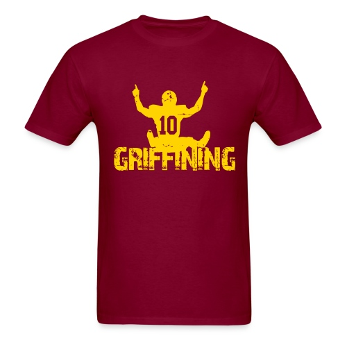 Griffining Shirt on Red - Men's T-Shirt