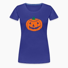 2 color Halloween Pumpkin vector Women's T-Shirts