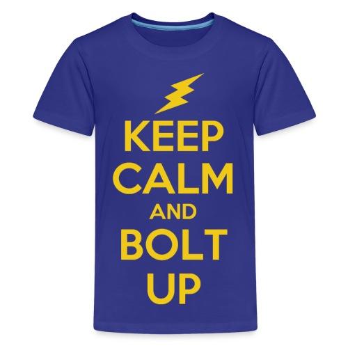 Keep Calm and Bolt Up - kids tee - Kids' Premium T-Shirt