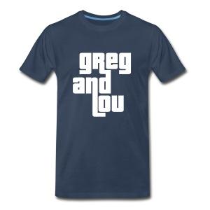 Greg and Lou (white text) - Men's Premium T-Shirt