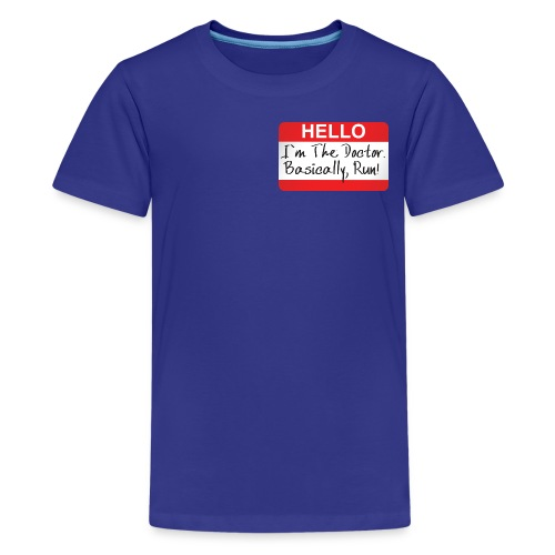 name tag doctor who shirt - Kids' Premium T-Shirt