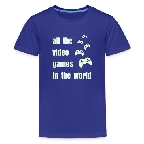 all the video games in the world - Kids' Premium T-Shirt