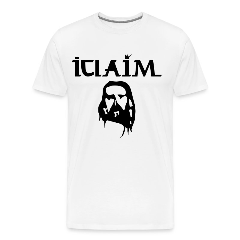 ICLAIM Christ Optical Illusion 3XL & 4XL - Men's Premium T-Shirt