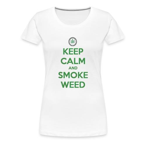 Keep Calm and Smoke Weed - Women's Premium T-Shirt