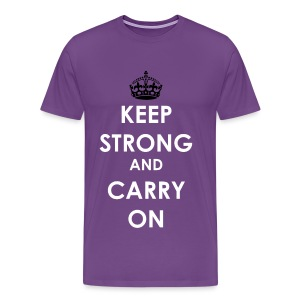 #SpiritDay Keep Strong and Carry On - Men's T-shirt - Men's Premium T-Shirt