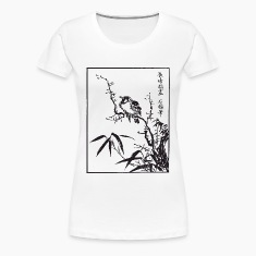 Japanese Bird Art Women's T-Shirts