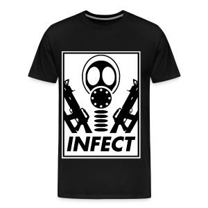 INFECT WORLD DOMINATION 3X/4X TEE - Men's Premium T-Shirt