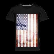 Baby & Toddler Shirts ~ Toddler Premium T-Shirt ~ Detroit Spirit USA Flag