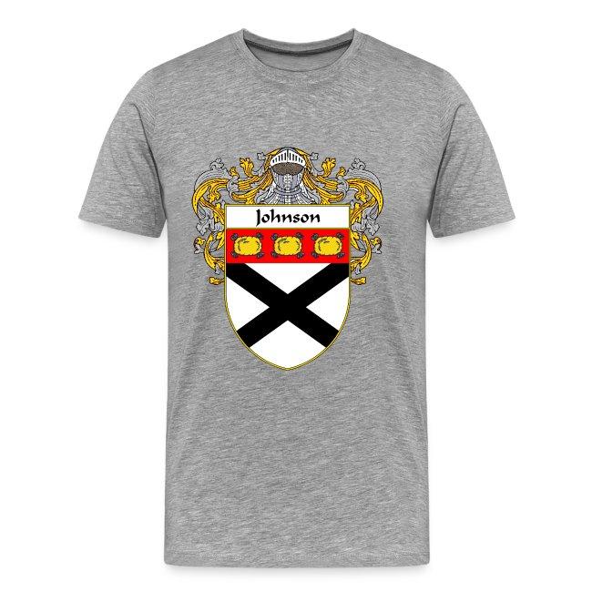 Johnson Coat of Arms/Family Crest   Men's Premium T-Shirt