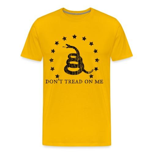 Don't Tread On Me - Men's Heavyweight T-shirt - Men's Premium T-Shirt