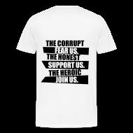 T-Shirts ~ Men's Premium T-Shirt ~ The heroic join us (navy) mens tee