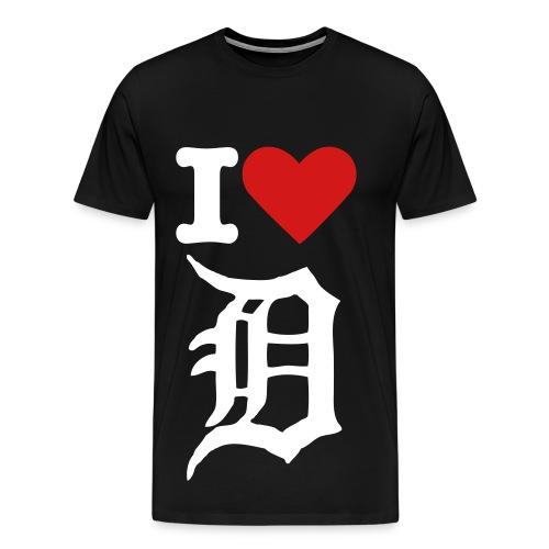 Men's Detroit Love - BIG - Men's Premium T-Shirt