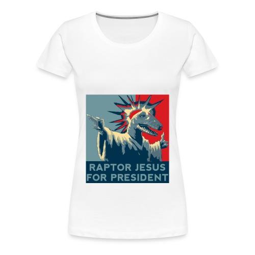 Raptor Jesus - Women's Premium T-Shirt