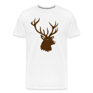 T-Shirts ~ Men's Premium T-Shirt ~ animal t-shirt stag antler cervine deer buck night hunter bachelor