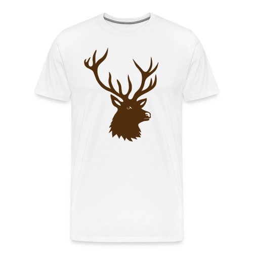 animal t-shirt stag antler cervine deer buck night hunter bachelor - Men's Premium T-Shirt
