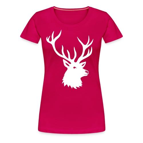 animal t-shirt stag antler cervine deer buck night hunter bachelor - Women's Premium T-Shirt