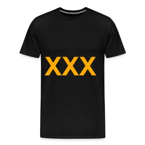XXX - NEON ORANGE SPECIALTY FLEX/ARIAL FONT - Men's Premium T-Shirt