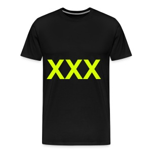 XXX - NEON YELLOW SPECIALTY FLEX/ARIAL FONT - Men's Premium T-Shirt