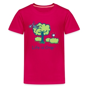 Motorcycle in a Tree - Kids' Premium T-Shirt