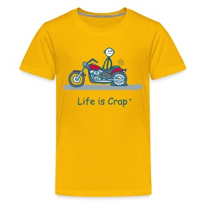 Motorcycle Flat - Kids' Premium T-Shirt