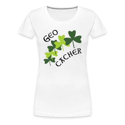 Geocacher Shamrocks - Women's Premium T-Shirt