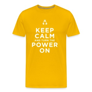 Keep Calm and Turn the Power On - Men's Premium T-Shirt