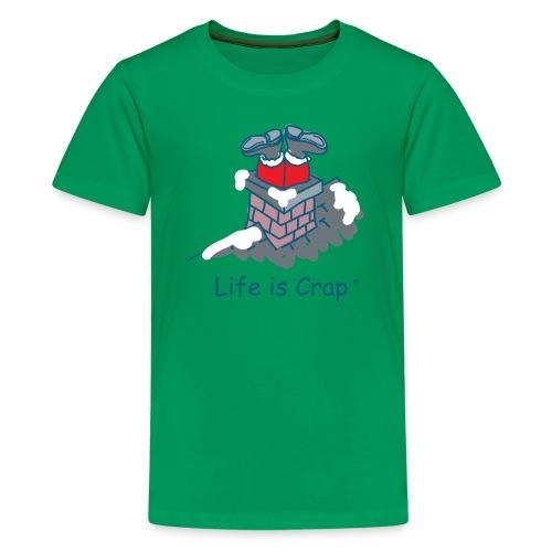 Santa Stuck - Kids T-shirt - Kids' Premium T-Shirt