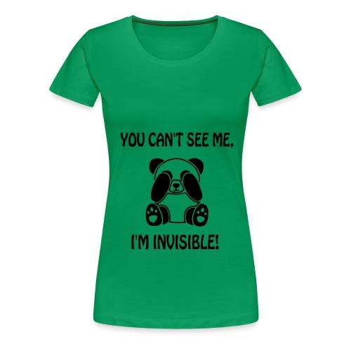 panda hiding - Women's Premium T-Shirt