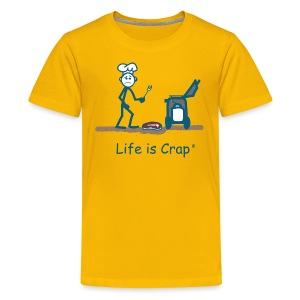 BBQ Steak Drop - Kids T-shirt - Kids' Premium T-Shirt