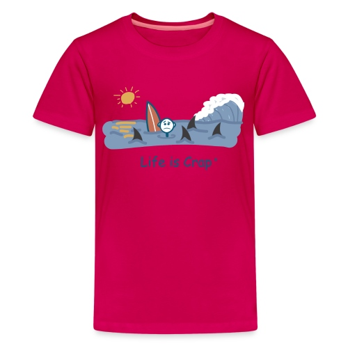 Sharks Circling Surfing - Kids T-shirt - Kids' Premium T-Shirt