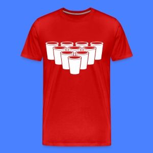 Beer Pong Cups - stayflyclothing.com T-Shirts - Men's Premium T-Shirt