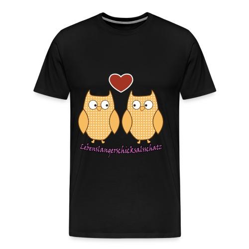 Liebeseulen - Lebenslangerschicksalschatz - Men's Premium T-Shirt