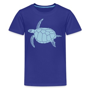 animal t-shirt sea turtle scuba diving diver marine endangered species - Kids' Premium T-Shirt