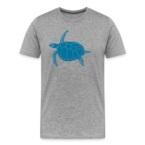 animal t-shirt sea turtle scuba diving diver marine endangered species - Men's Premium T-Shirt