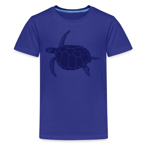 animal t-shirt sea turtle scuba diving diver marine endangered species - Kids' Premium T-Shirt