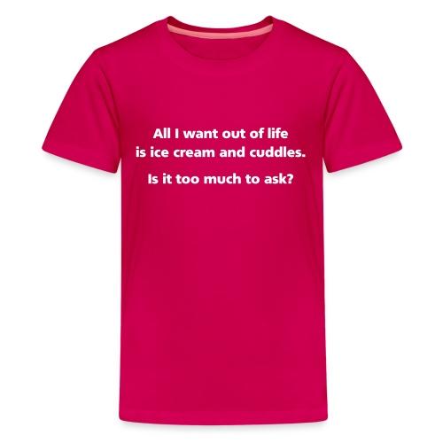 GIRLS: Ice Cream and Cuddles - Kids' Premium T-Shirt
