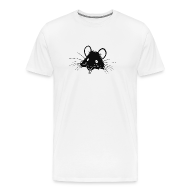 T-Shirts ~ Men's Premium T-Shirt ~ Just the Rat White