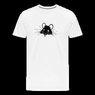 T-Shirts ~ Men's Premium T-Shirt ~ Just the Rat White