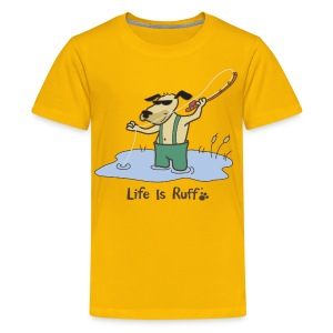 Fly Fish Dog - Kids' Premium T-Shirt