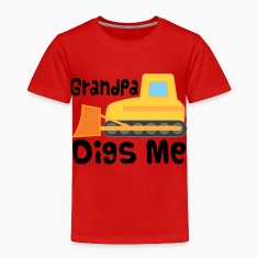 Grandpa Digs Me Grandchild Bulldozer Baby & Toddler Shirts