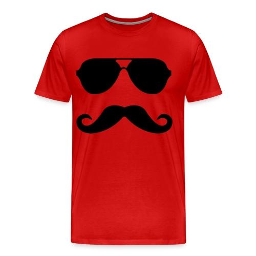 Officer Stache Tee - Men's Premium T-Shirt