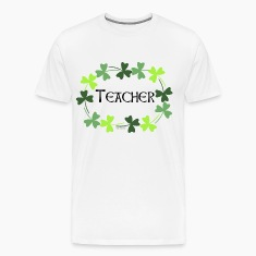 Teacher Shamrock Oval T-Shirts