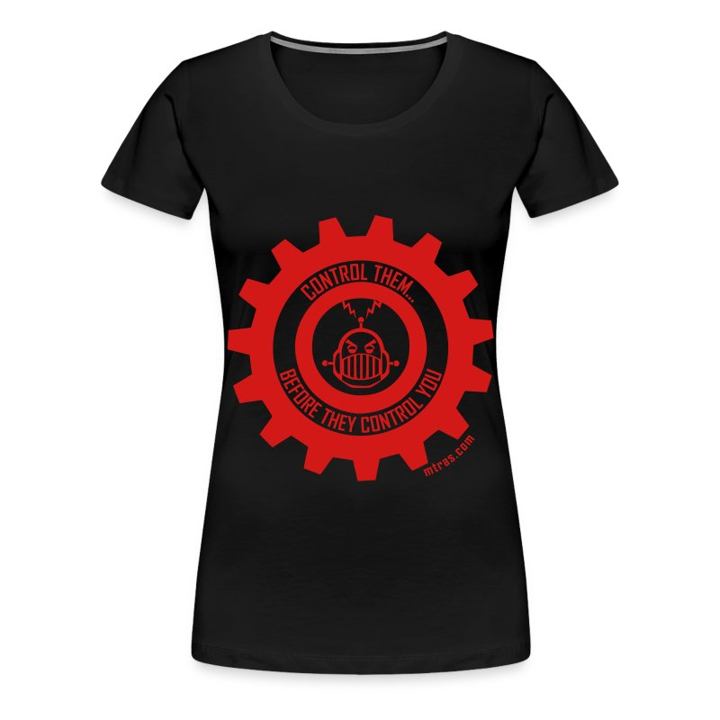 MTRAS Control The Robots Red - Women's XL Tshirt - Women's Premium T-Shirt