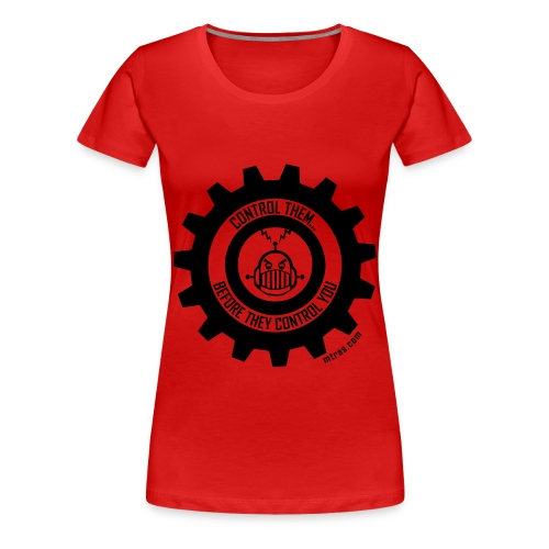 MTRAS Control The Robots Black - Women's XL Tshirt - Women's Premium T-Shirt