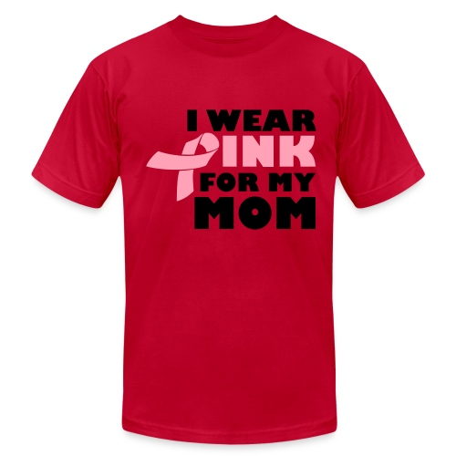 Men's Fine Jersey T-Shirt - I WEAR PINK FOR MY MOM TEE FOR MEN