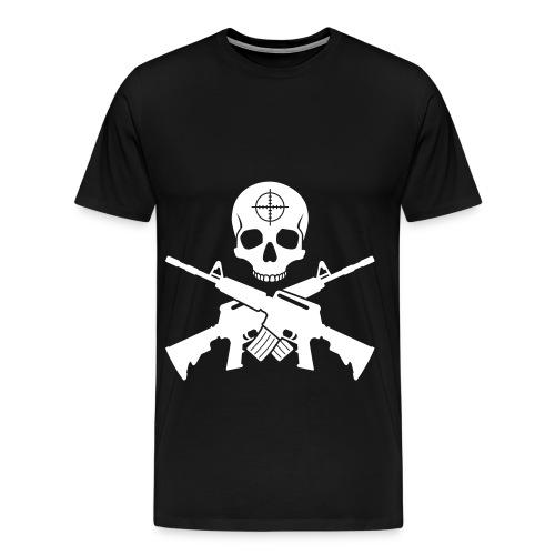 m16 skull - Men's Premium T-Shirt