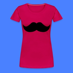 Mustache Women's T-Shirts - stayflyclothing.com - Women's Premium T-Shirt