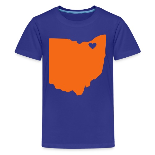 Kids Ohio Heart Cleveland - Kids' Premium T-Shirt