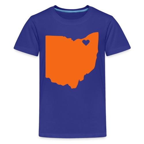 Kids Ohio Heart Cleveland - Kids' Premium T-Shirt